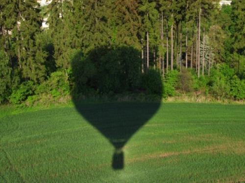 Let balonem Karlštejn